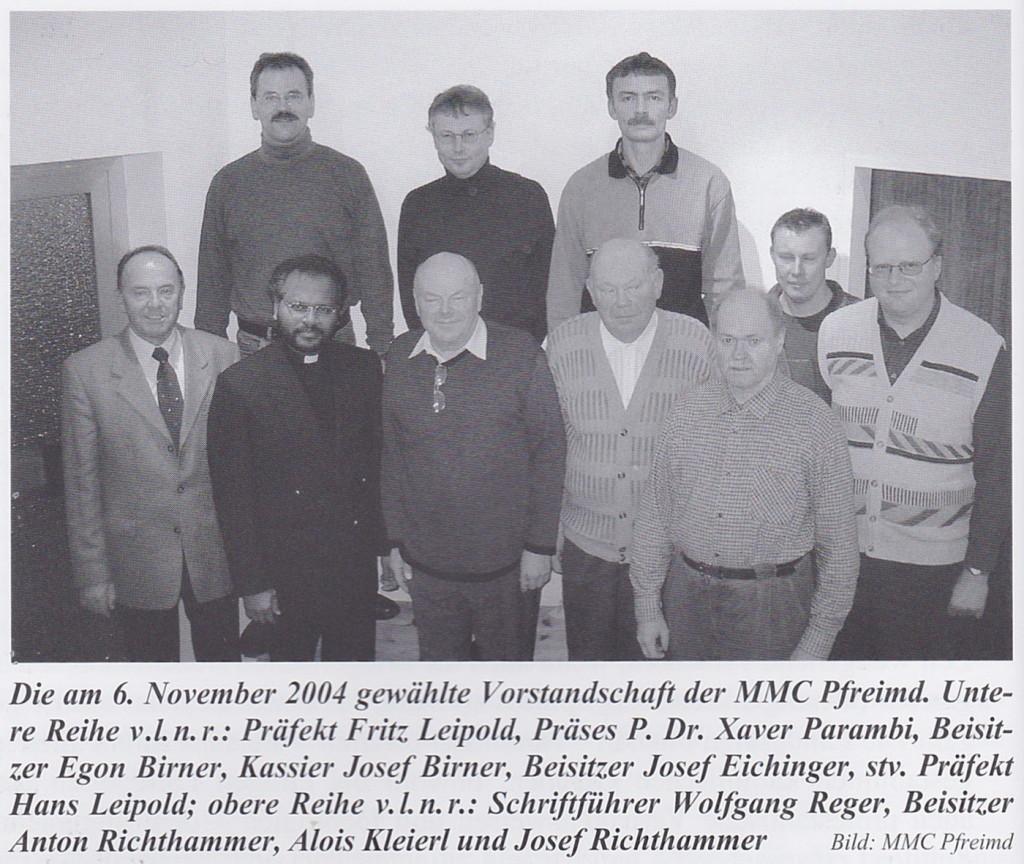 Vorstandschaft von 2004
